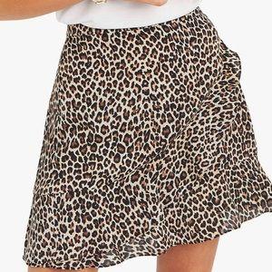 NWT Cheetah Print Wrap Skirt Size Small